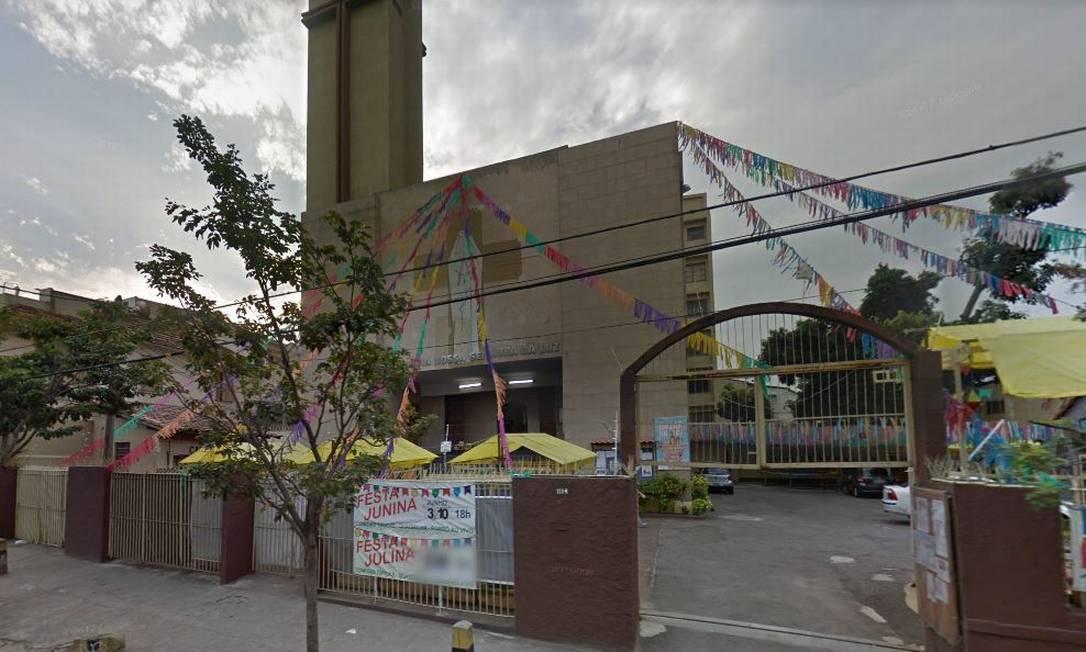 Bandidos assaltam igreja no Rocha, na Zona Norte do Rio Foto: Reprodução / Google Street View