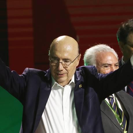 O ex-ministro Henrique Meirelles, na convenção do MDB que oficializou sua candidatura à Presidência Foto: Givaldo Barbosa / Agência O Globo