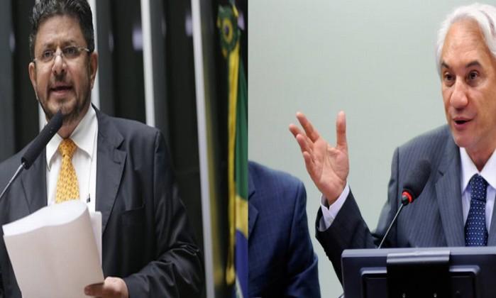Os deputados Fábio Ramalho e Saraiva Felipe Foto: Divulgação / Câmara dos Deputados