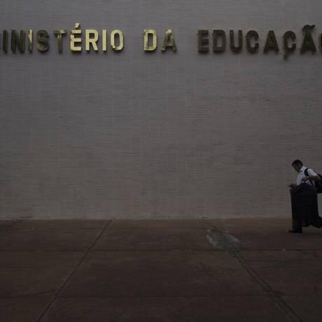 Fachada do prédio do Ministerio da Educação, em Brasília Foto: Daniel Marenco/Agência O Globo/13-07-2018