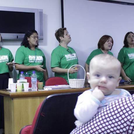 Grupo de cantores faz apresentação para crianças internadas em hospital do Rio Foto: Divulgação