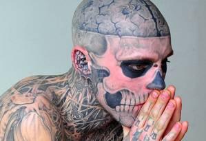 Rick Genest, o Zombie Boy Foto: Colin Singer / Colin Singer