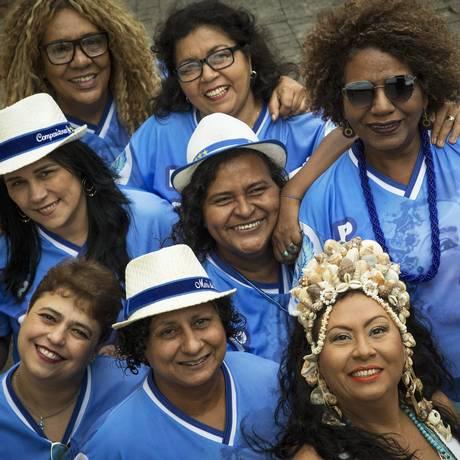 Grupo Guerreiras do Samba: grupo de mulheres compositoras que estão concorrendo ao samba enredo da Portela para 2019 Foto: Guito Moreto / Agência O Globo