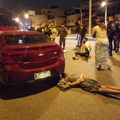 Vítima do sequestro-relâmpago levou vários tiros e um dos bandidos foi preso Foto: Redes sociais