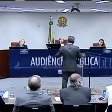 Audiência pública no STF debate a descriminalização do aborto Foto: Reprodução/TV Justiça