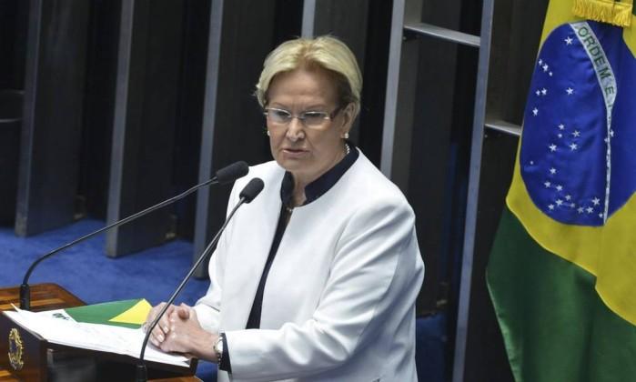 A senadora Ana Amélia Foto: Antonio Cruz / Agência Brasil