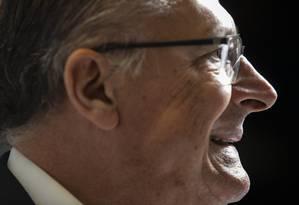 Pré-candidato do PSDB à Presidência, Geraldo Alckmin, defende pragmatismo das alianças partidárias Foto: Ana Branco / Agência O Globo