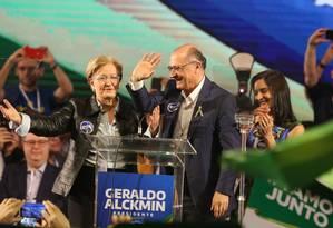 Convenção do PSDB oficializa candidatura de Geraldo Alckmin (PSDB) à Presidência Foto: Givaldo Barbosa / Agência O Globo