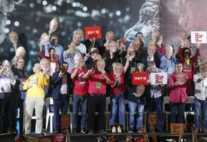 PT confirma candidatura de Lula à Presidência, mas não indica nome de vice Foto: Marcos Alves/ Agência O Globo