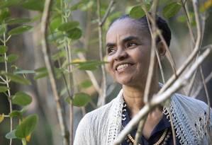 Marina Silva será candidata ao Palácio do Planalto pela terceira vez, agora pela Rede Sustentabilidade Foto: Ana Branco / Agência O Globo