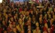 Delegados do PT durante a convenção que referendou a indicação do ex-presidente Lula como candidato à Presidência