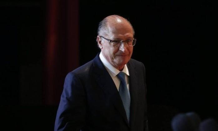 Geraldo Alckmin (PSDB) deixou o governo de São Paulo para disputar o Palácio do Planalto Foto: Marcos Alves / Agência O Globo
