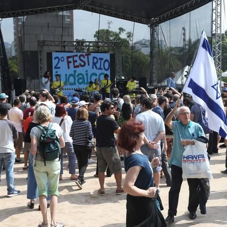 Festival Judaico na Praça Nossa Senhora da Paz Foto: Pedro Teixeira / Agência O Globo