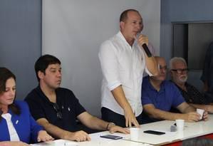 Marcelo Delaroli em convenção do PR Foto: Divulgação PR