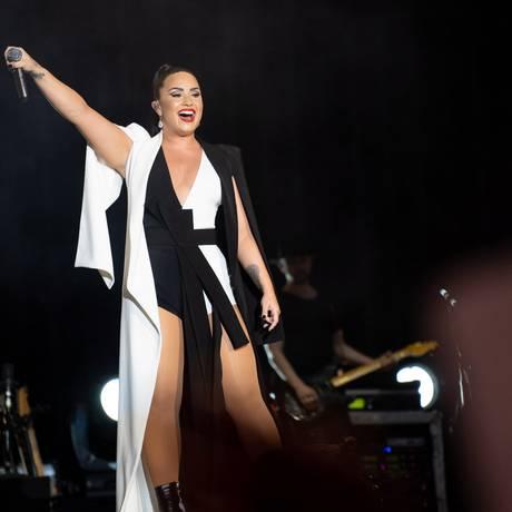 Apresentação de Demi Lovato no Palco Mundo do Rock in Rio Lisboa, em junho Foto: Denis Cunha / Agência O Globo