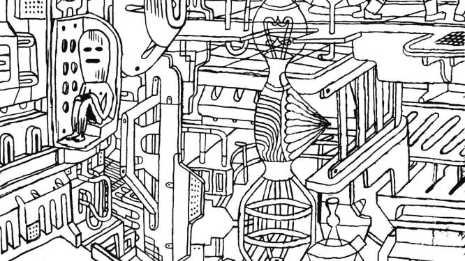 Página da HQ 'Música para antropomorfos', de Fabio Zimbres Foto: Reprodução / Divulgação