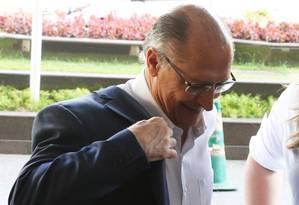 BSB - Brasília - Brasil - 04/08/2018 - PA -Convenção do PPS oficializa apoio à pré-candidatura de Geraldo Alckmin (PSDB) a presidente da República. Foto: Givaldo Barbosa/O Globo Foto: Givaldo Barbosa / Agência O Globo