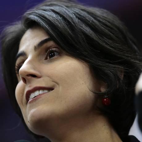 Manuela d'Ávila deverá ser indicada nos próximos meses para o posto hoje ocupado por Haddad Foto: Jorge William / Agência O Globo