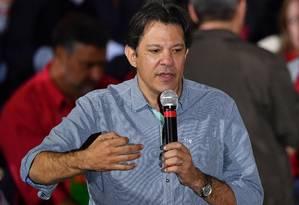 Fernando Haddad foi escolhido para ser vice na chapa de Lula Foto: NELSON ALMEIDA / AFP