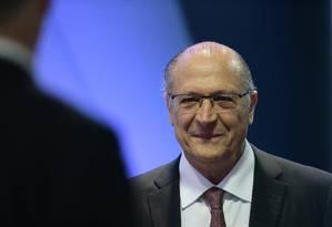 Geraldo Alckmin participa de evento com presidenciáveis em Brasília Foto: Jorge William / Agência O Globo
