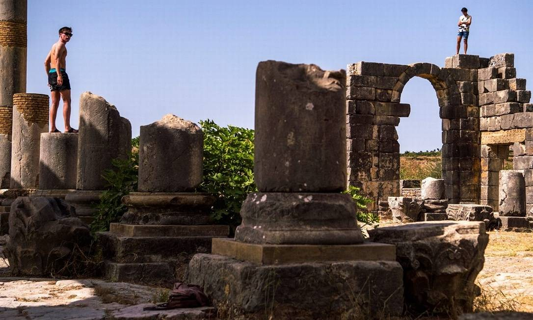 O sítio arqueológico foi fortemente saqueado ao longo dos séculos, graças, sobretudo, a suas numerosas peças em mármore Foto: FADEL SENNA / AFP