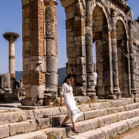 O sítio arqueológico atraiu 300 mil visitantes no último ano, um recorde para seus padrões Foto: FADEL SENNA / AFP