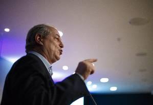 Ciro Gomes participa de evento com presidenciáveis em Brasília Foto: Daniel Marenco / Agência O Globo