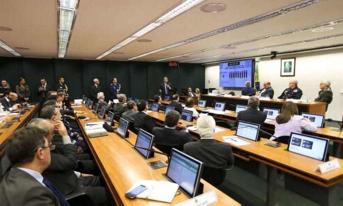 Audiência pública na Comissão de Relações Exteriores e Defesa Nacional da Câmara dos Deputados Foto: Marcelo Camargo / Agência Brasil
