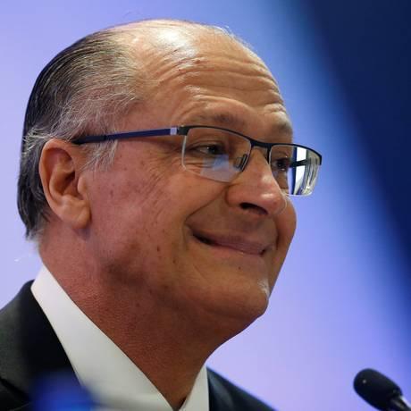 O candidato do PSDB à Presidência, Geraldo Alckmin, em debate no dia 6 de agosto Foto: Adriano Machado / REUTERS