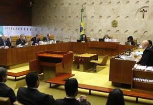 Plenário do do Supremo Tribunal Federal (STF), durante sessão Foto: Jorge William/Agência O Globo/29-06-2018