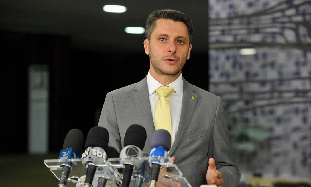 O deputado Alex Manente (PPS-SP), durante entrevista coletiva Foto: Luis Macedo/Câmara dos Deputados/20-02-2018