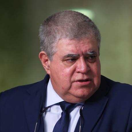 O ministro da Secretaria de Governo, Carlos Marun, durante entrevista Foto: Givaldo Barbosa / Agência O Globo