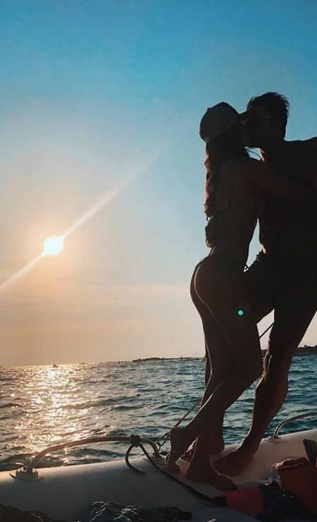 Clique romântico do casal magia do Instagram, Lucas Gil e Taty Betin Foto: Reprodução/ Instagram