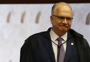O ministro Edson Fachin, durante sessão do Supremo Tribunal Federal Foto: Ailton de Freitas / Agência O Globo