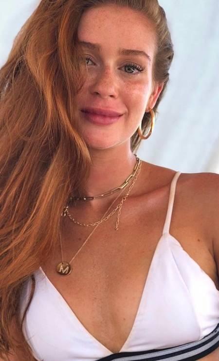 Apoiando os novos talentos da moda nacional, Marina usou na viagem um modelo de biquíni da ESC, avaliado em R$ 298 Foto: Reprodução/ Instagram