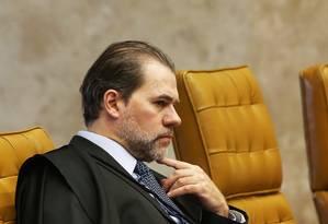 O ministro Dias Toffoli, durante sessão do Supremo Tribunal Federal Foto: Ailton de Freitas / Agência O Globo