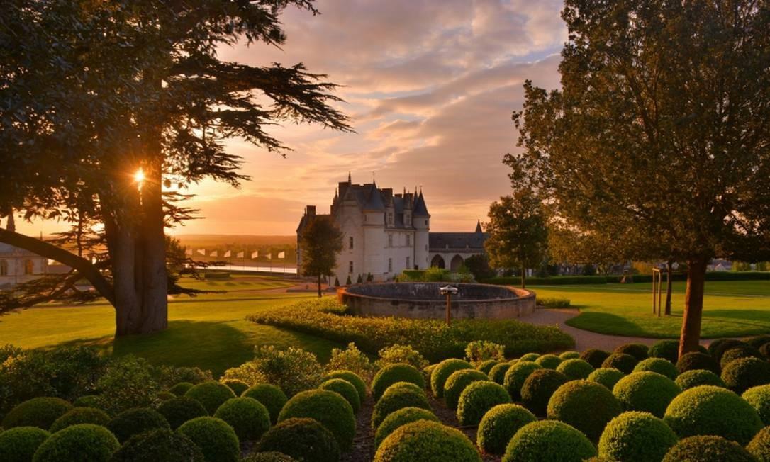 Jardins do Castelo Real de Amboise, em Amboise Divulgação/Château d'Amboise/L. De Serres