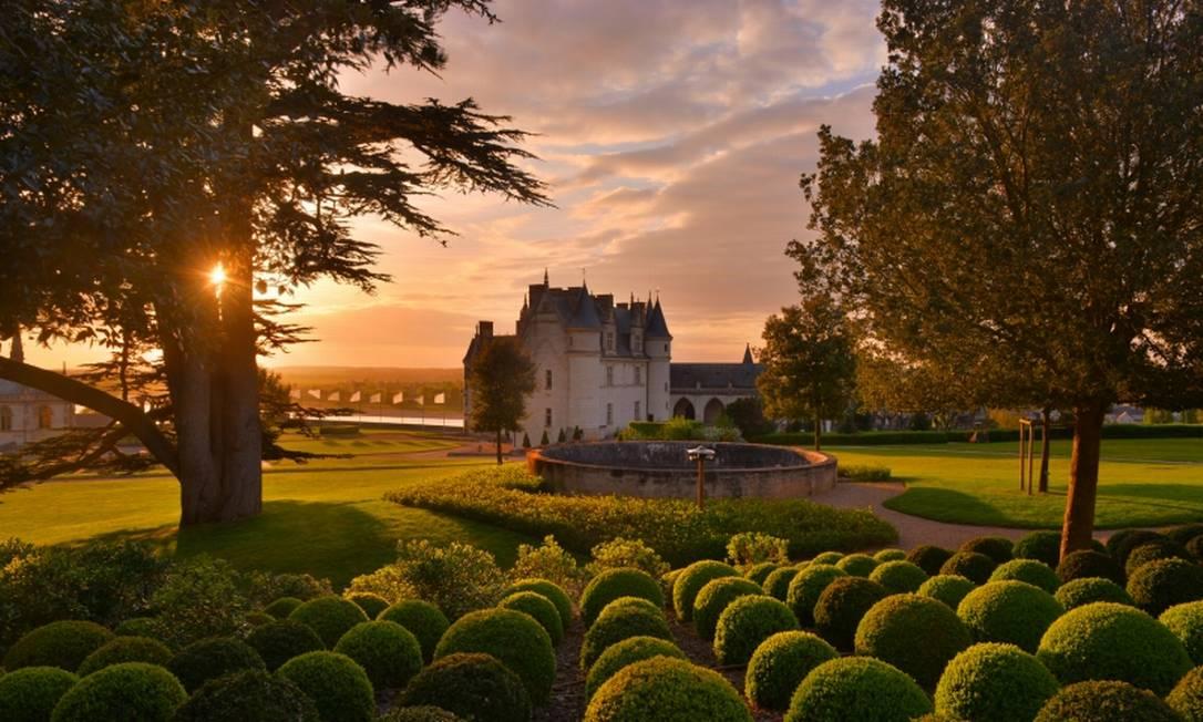Jardins do Castelo Real de Amboise, em Amboise Foto: Divulgação/Château d'Amboise/L. De Serres