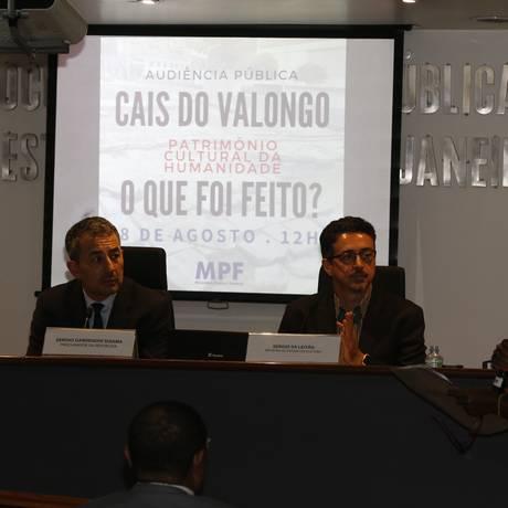 Audiência pública sobre Cais do Valongo Foto: Domingos Peixoto / O Globo