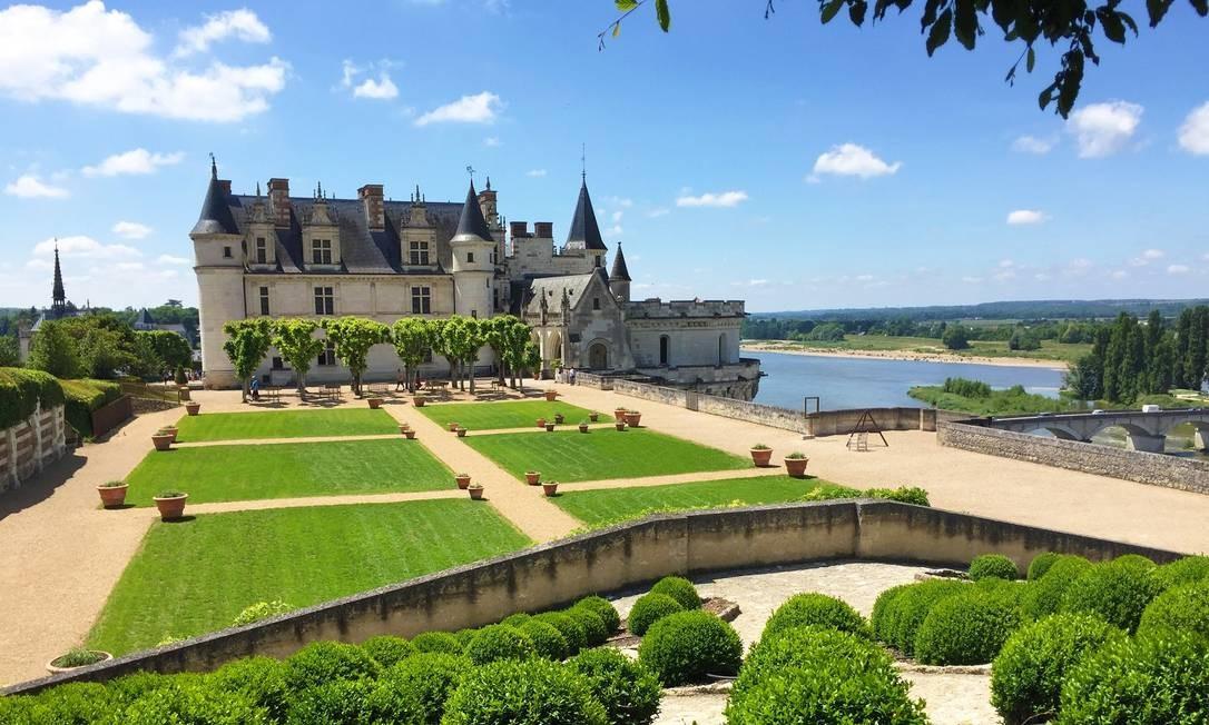 A bela paisagem de Amboise, no Vale do Loire, na França Divulgação