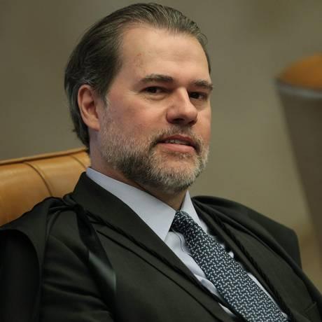O ministro Dias Toffoli, durante sessão do STF Foto: Ailton de Freitas / Agência O Globo