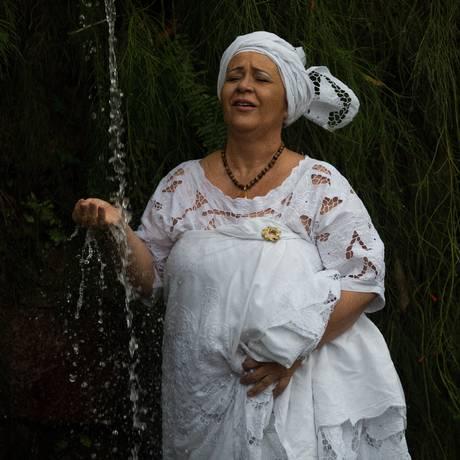 Mãe Mena se mudou do Recreio para Vargem Grande, onde fundou um terreiro de umbanda Foto: Emily Almeida