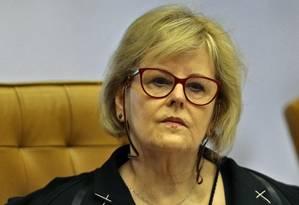 A ministra Rosa Weber, durante sessão do Supremo Tribunal Federal Foto: Jorge William/Agência O Globo/01-08-2018