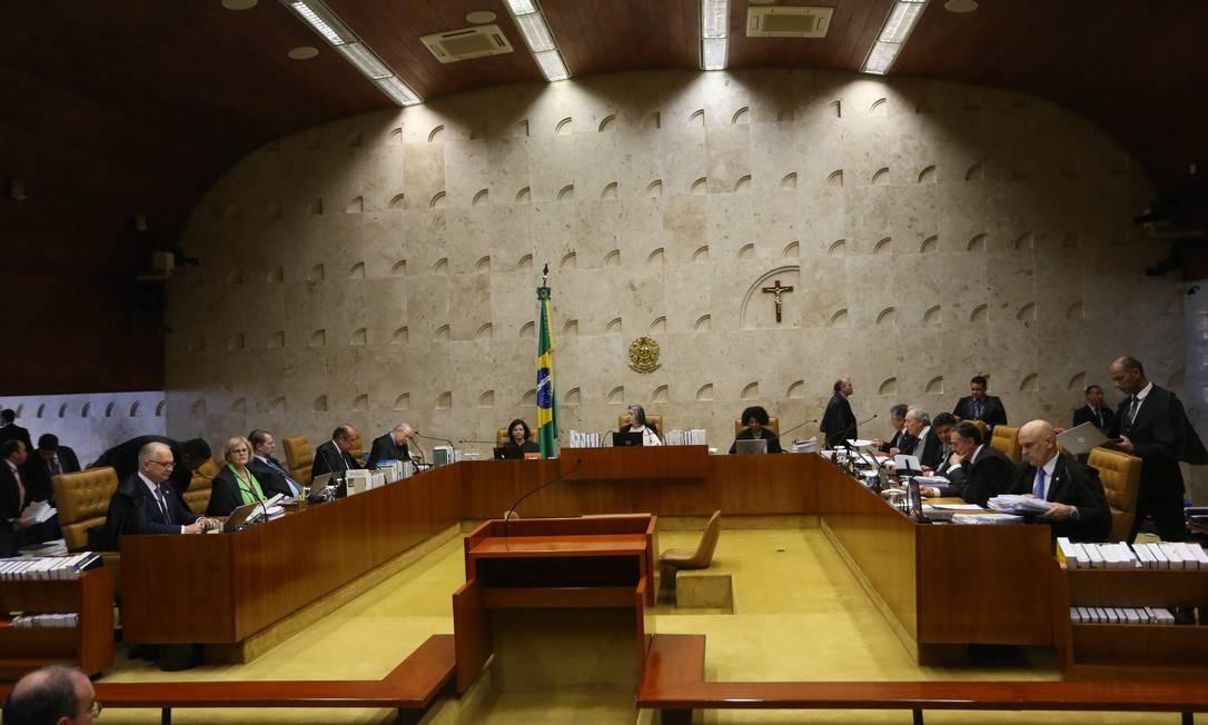 Plenário do Supremo Tribunal Federal, durante sessão Foto: Ailton de Freitas / Agência O Globo