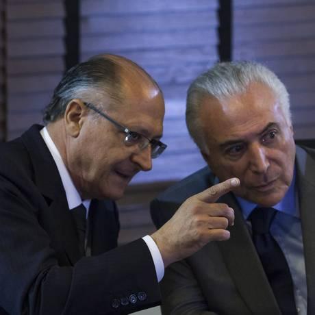 Michel Temer e oGeraldo Alckmin visitam obras em Campinas Foto: Edilson Dantas/Agência O Globo/15-02-2018