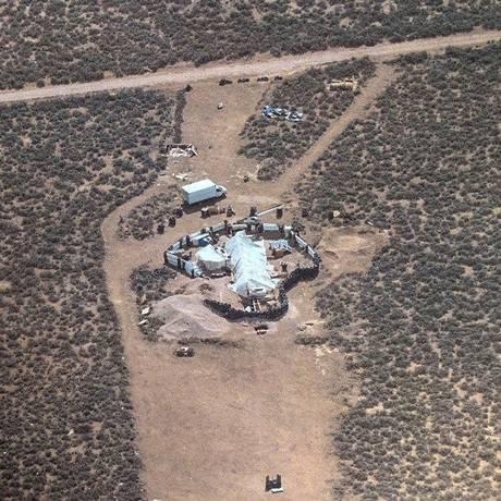Vista do complexo onde ficavam as crianças Foto: HANDOUT / AFP