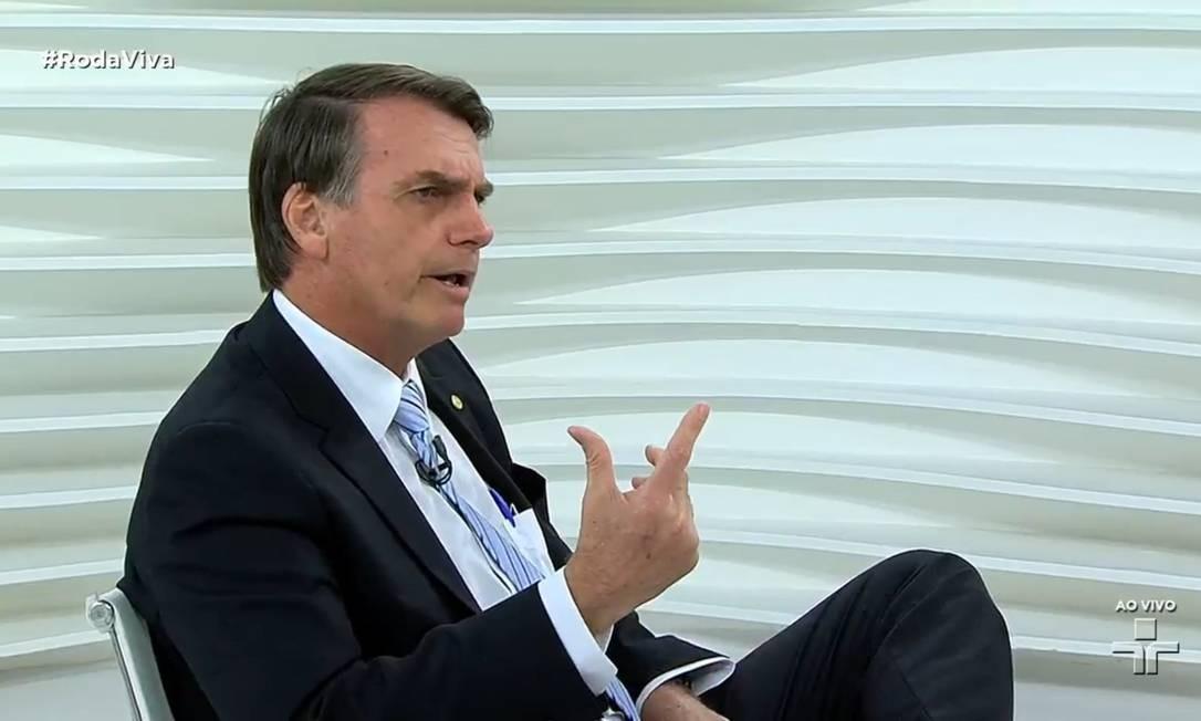 Jair Bolsonaro no Roda Viva Foto: Picasa / Reprodução