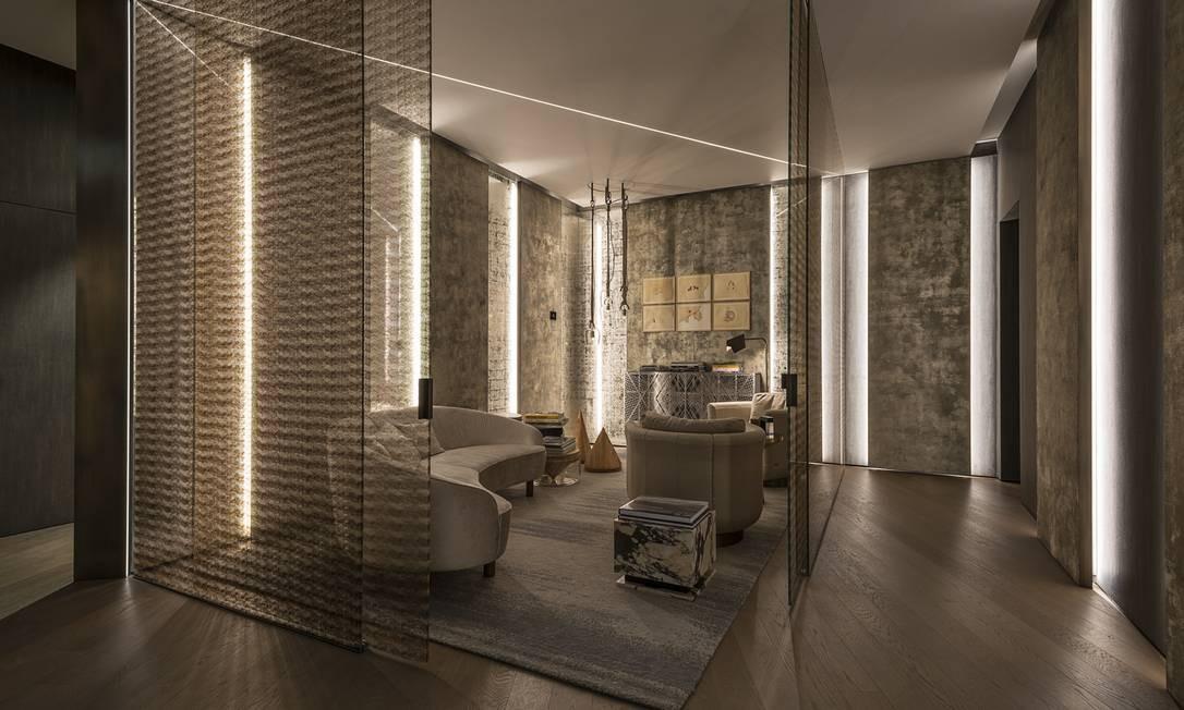 No terceiro andar do Palazzo Fendi, localizado no coração de Roma, funciona o primeiro hotel da marca, ideal para quem busca uma dose necessária de privacidade Divulgação