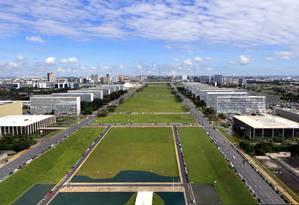 A Esplanada dos Ministérios, em Brasília Foto: Arquivo / Agência Brasil