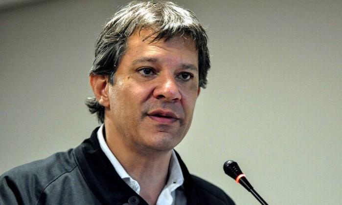 O ex-prefeito de São Paulo Fernando Haddad Foto: Brazil Photo Press